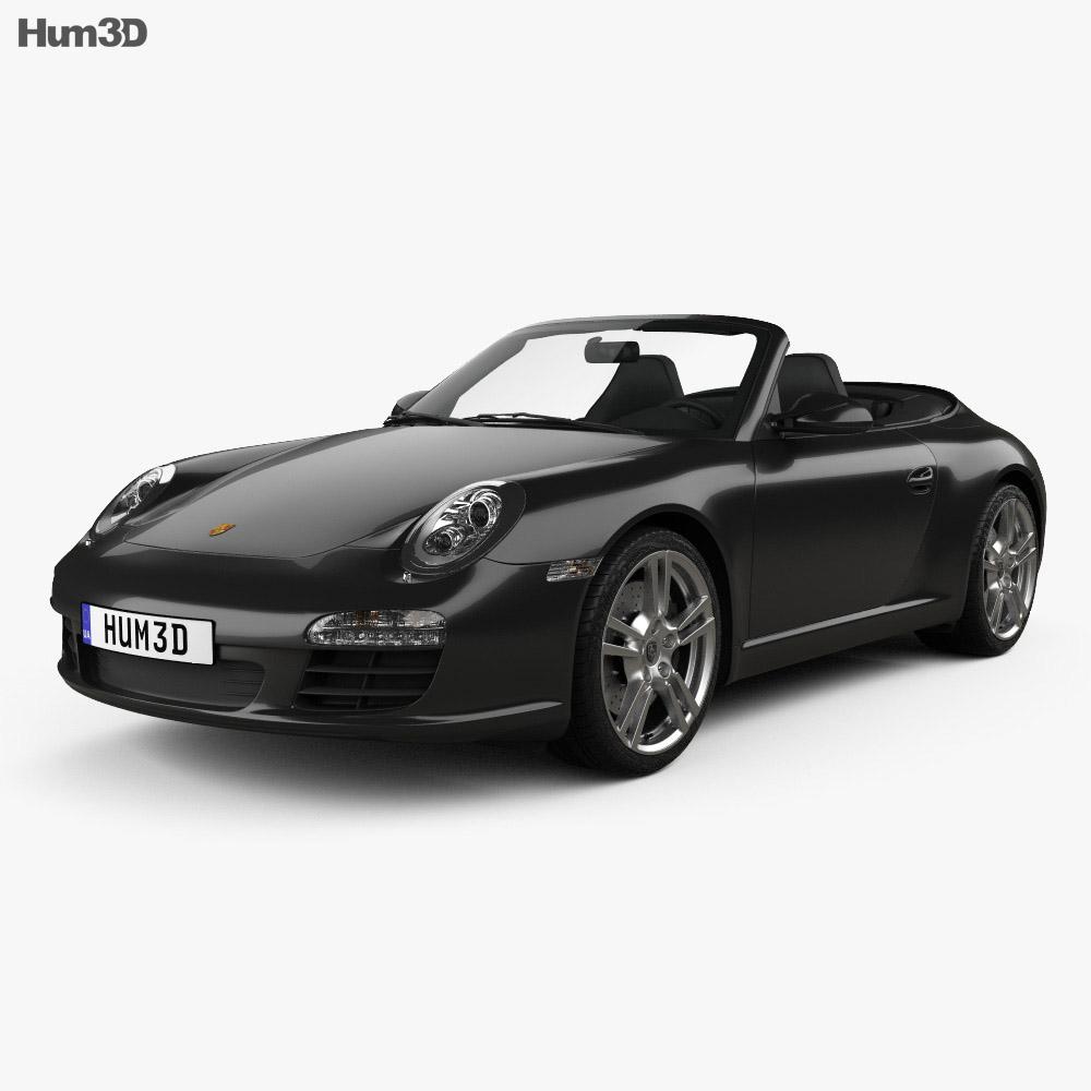 Porsche 911 Carrera Black Edition Cabriolet 2011 3d model