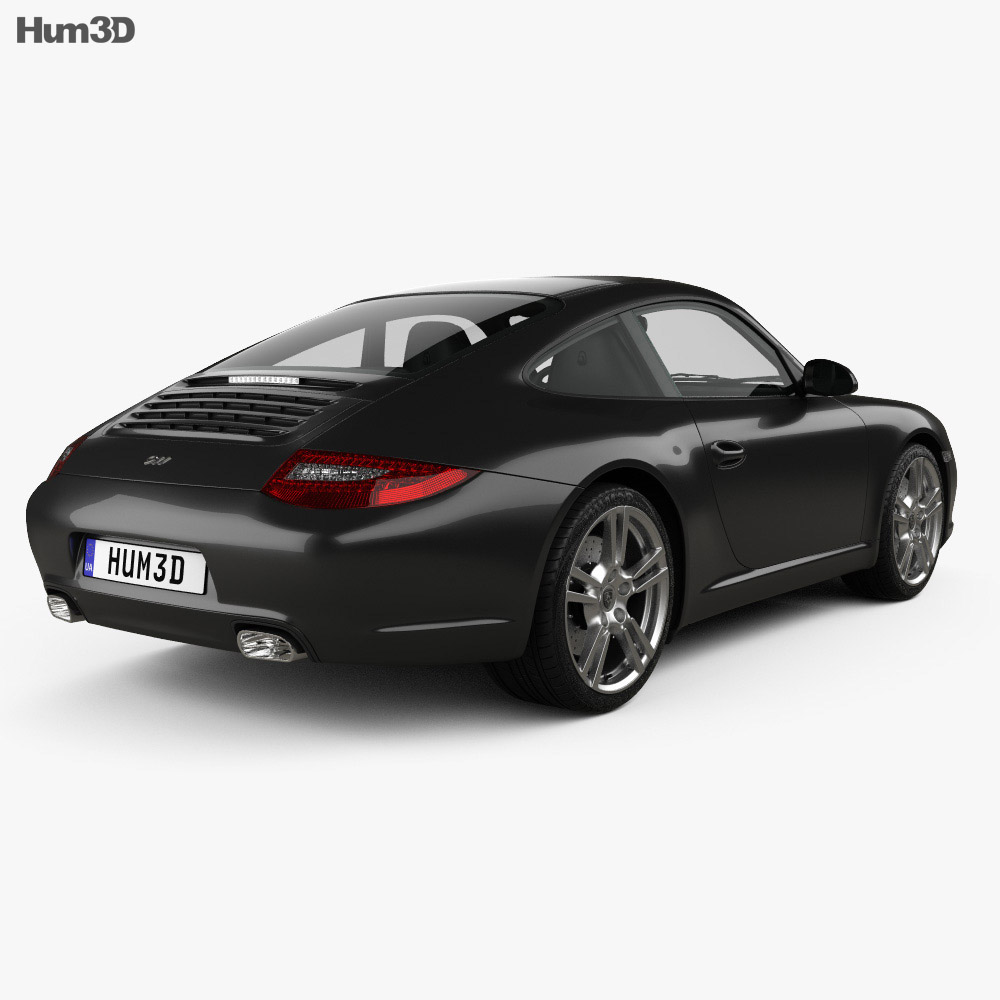 Porsche 911 Carrera Black Edition Coupe 2011 3d model
