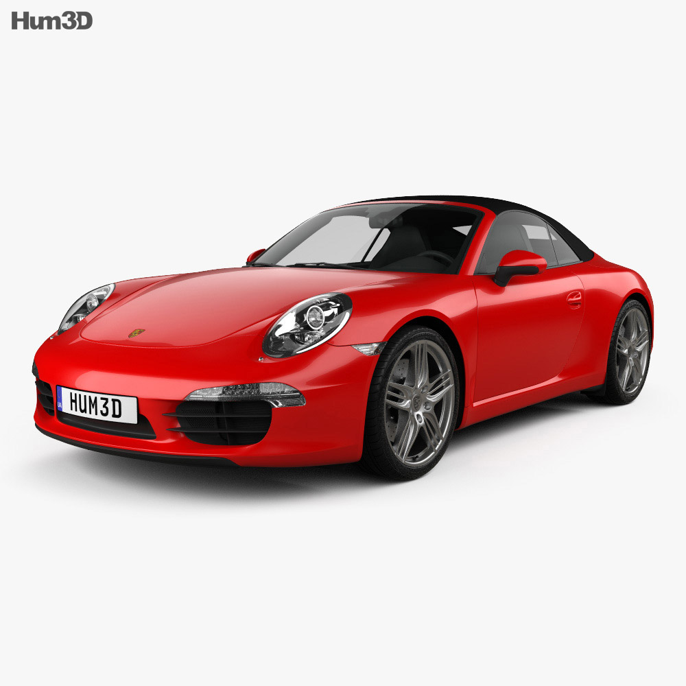 Porsche 911 Carrera Cabriolet 2012 3d model