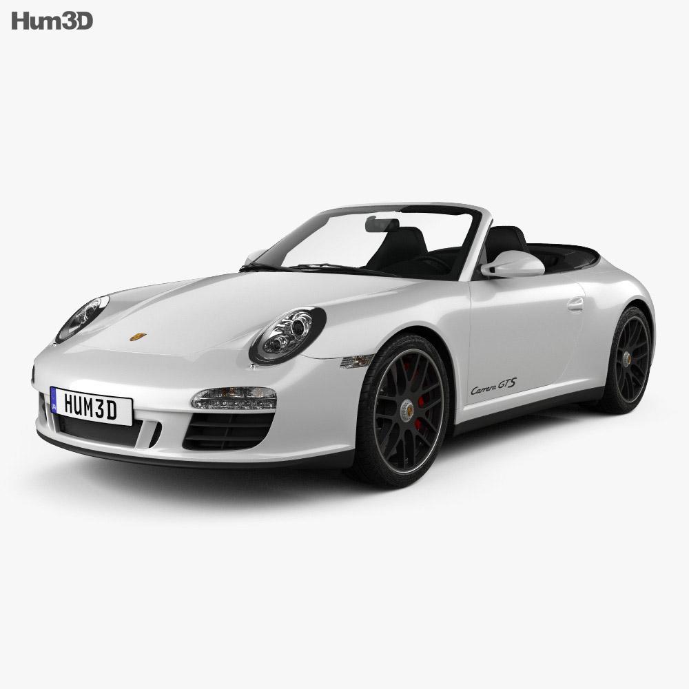 Porsche 911 Carrera GTS Cabriolet 2011 3d model