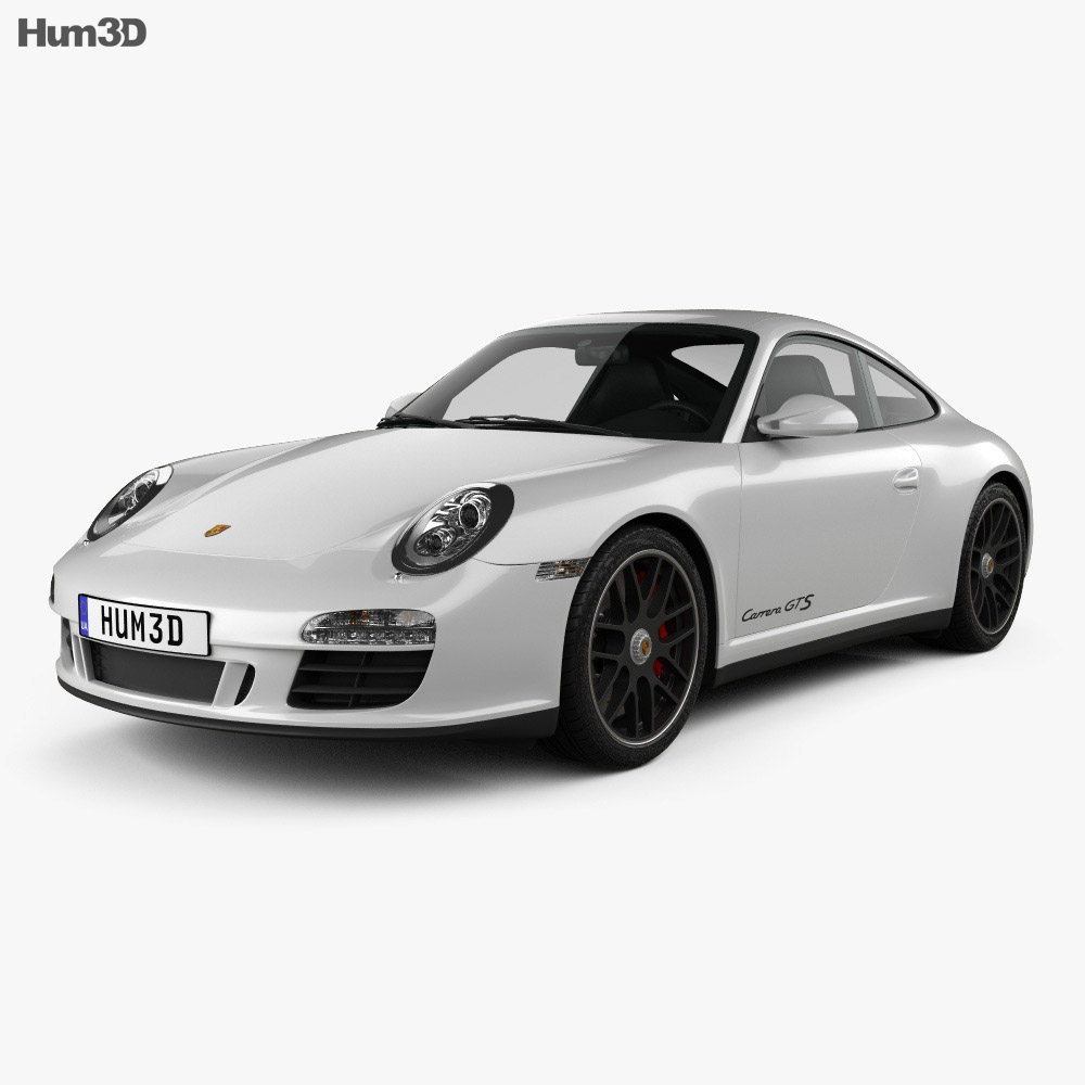 Porsche 911 Carrera GTS Coupe 2011 3d model
