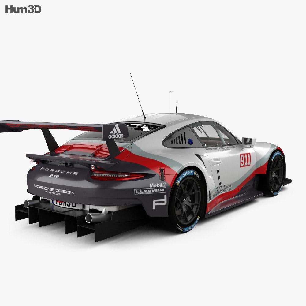 Porsche 911 Carrera (991) RSR 2017 3D Model