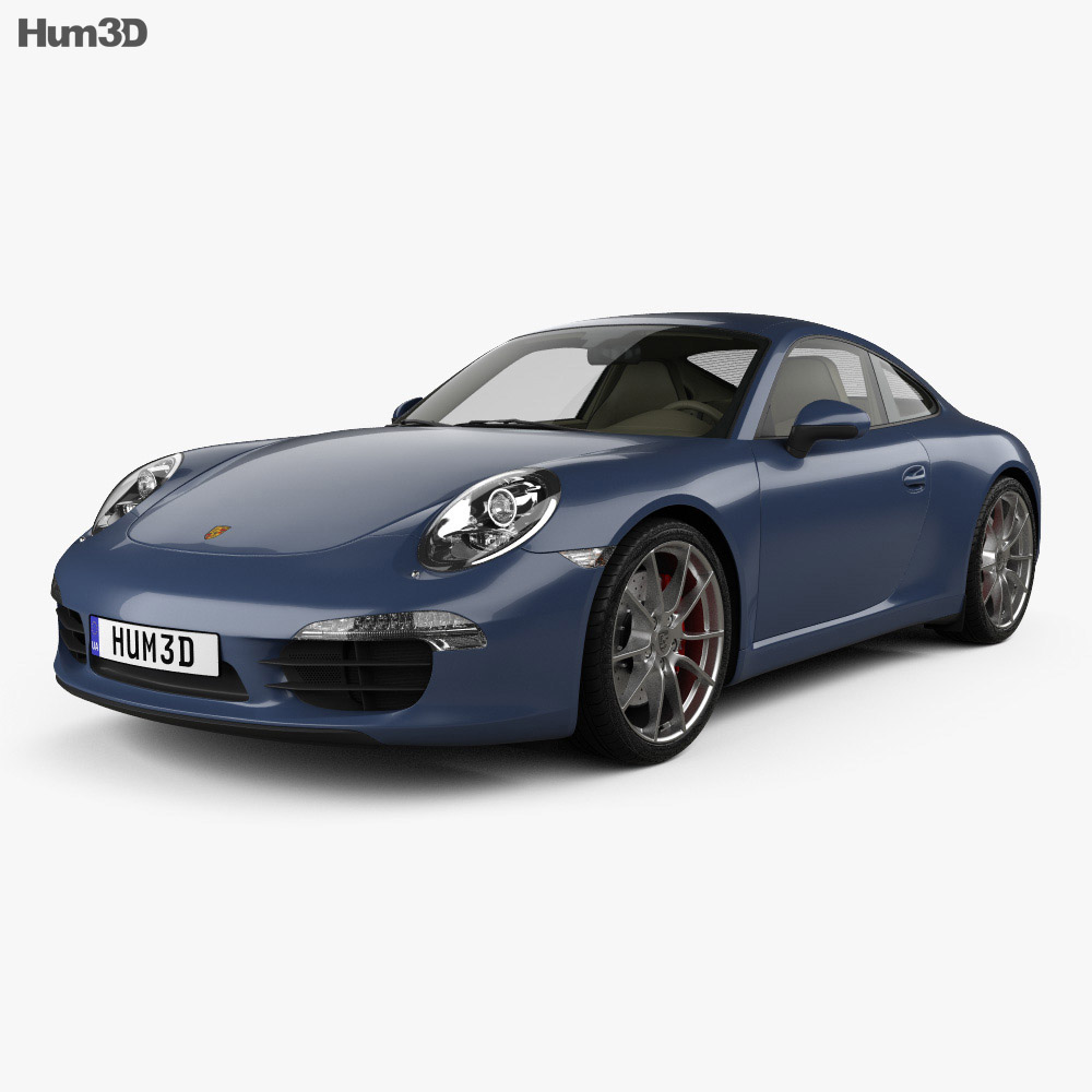 Porsche 911 Carrera S Coupe 2012 3d model