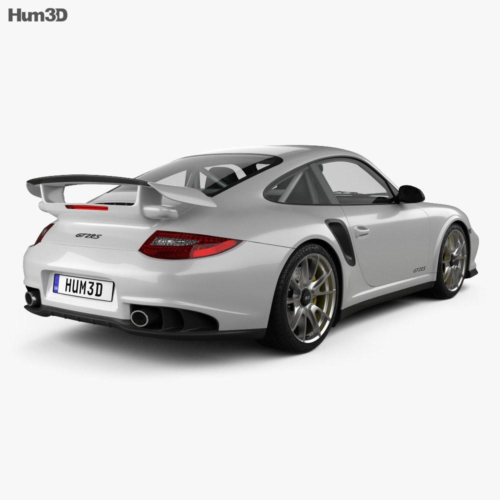 Porsche 911 GT2RS 2011 3d model back view