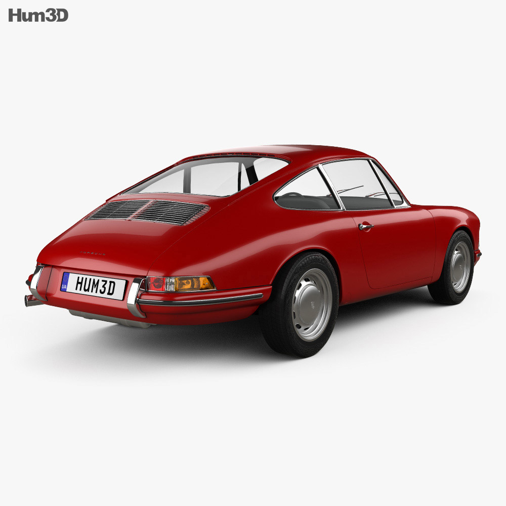 Porsche 911 Coupe Prototyp (901) 1962 3d model