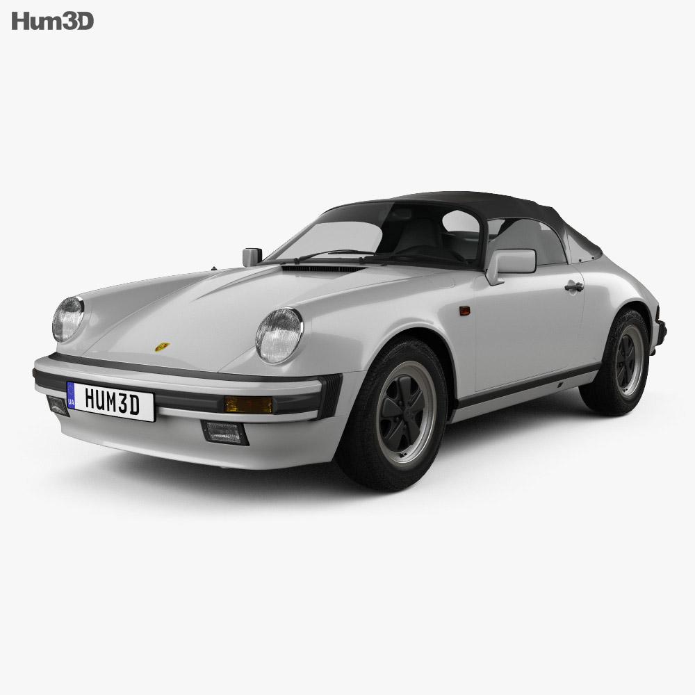 Porsche 911 Speedster (911) 1989 3d model