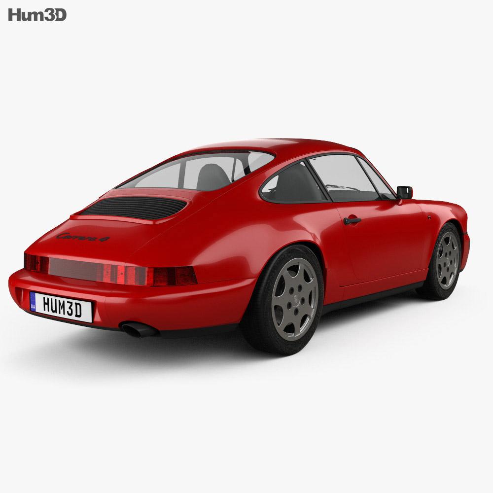 Porsche 911 Carrera 4 Coupe (964) 1989 3d model