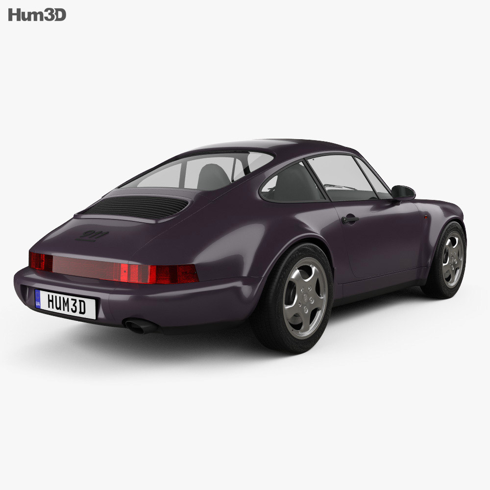 Porsche 911 Carrera 4 Coupe (964) Turbolook 30th anniversary 1993 3d model