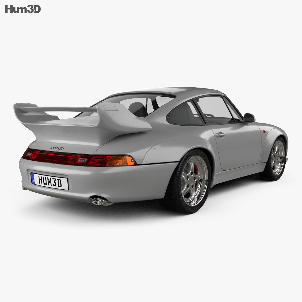 Porsche 911 Carrera GT2 Coupe (993) 1995 3d model