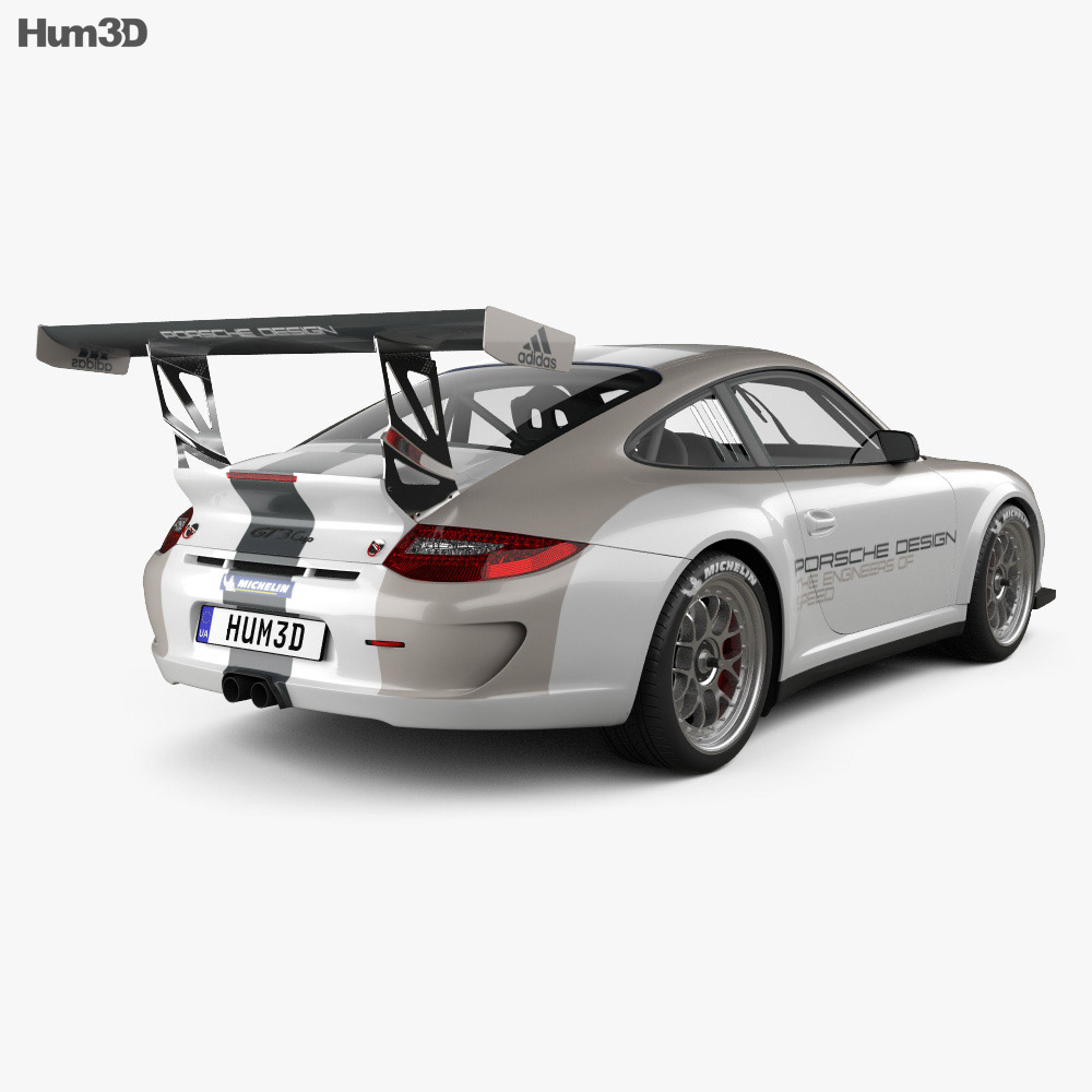 Porsche 911 Carrera GT3 Cup Car 2010 3d model