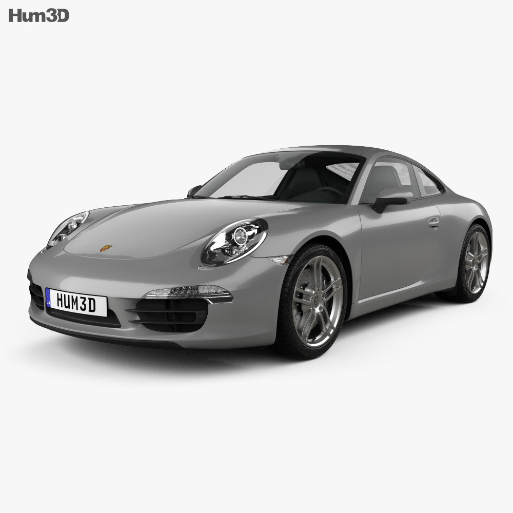 Porsche 911 Carrera 4 coupe 2012 3d model