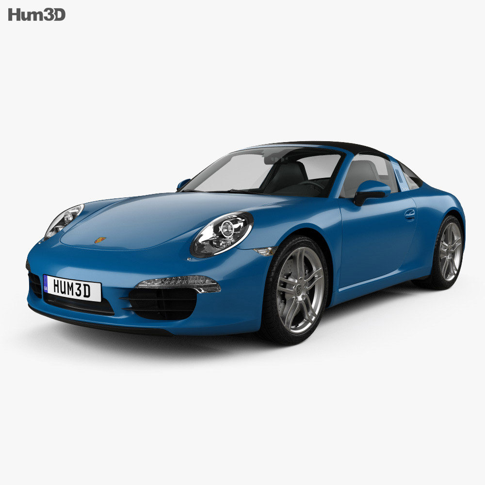 Porsche 911 Targa 4 2014 3d model