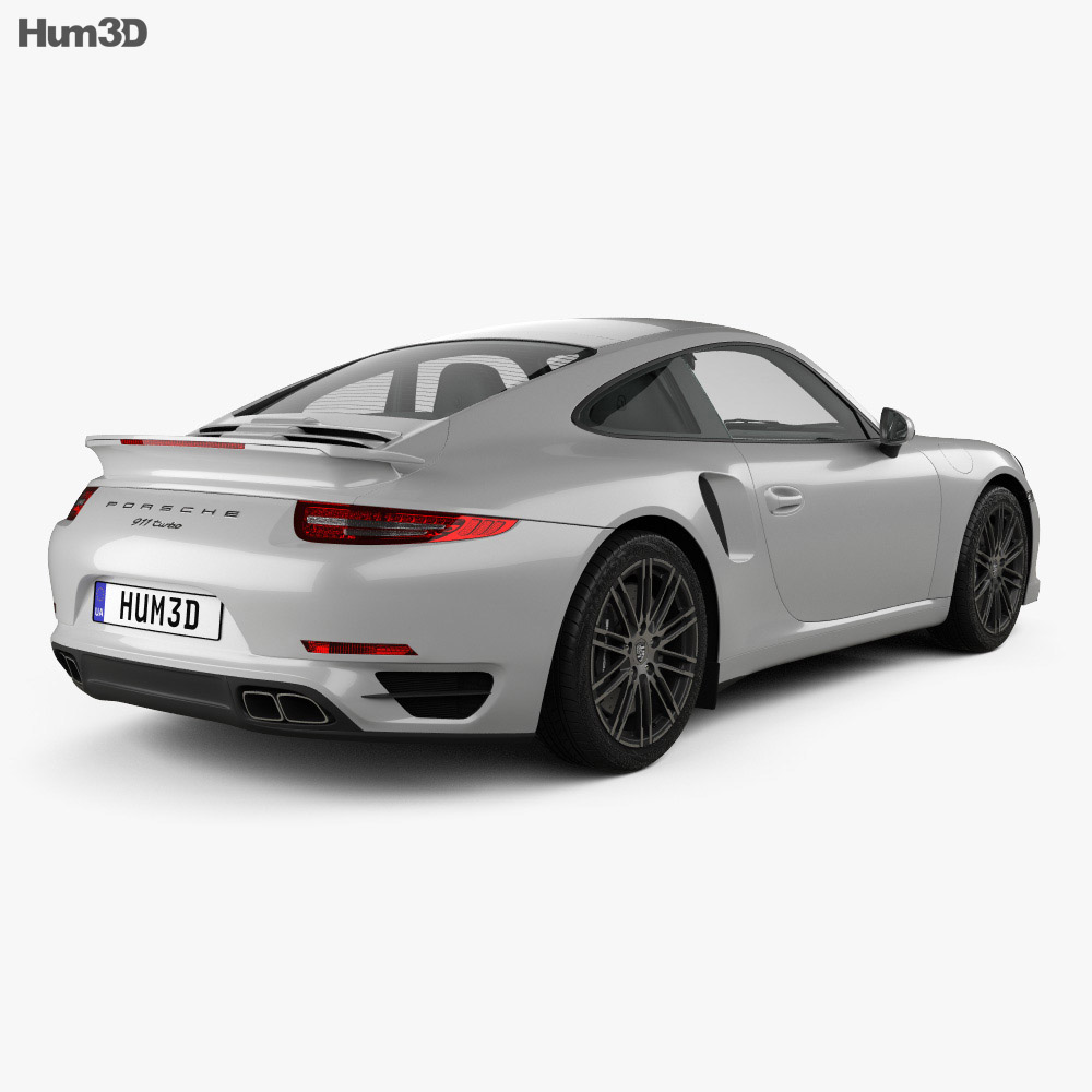 Porsche 911 Carrera (991) Turbo 2012 3d model