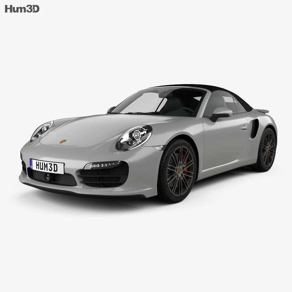 Porsche 911 Turbo cabriolet 2012 3d model