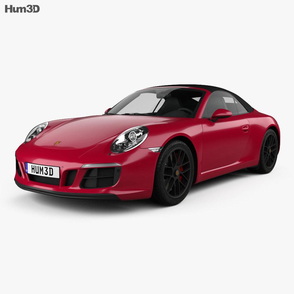 Porsche 911 Carrera GTS cabriolet 2017 3d model