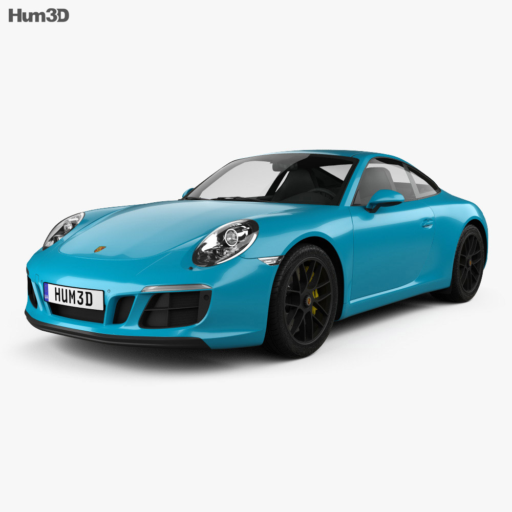 Porsche 911 Carrera GTS coupe 2017 3d model