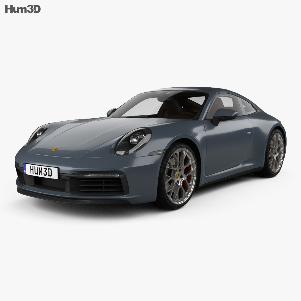 Porsche 911 Carrera 4S coupe with HQ interior 2019 3d model