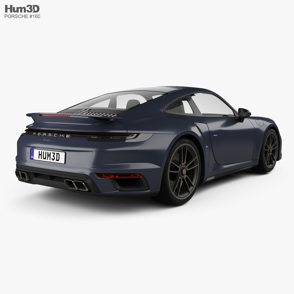 Porsche 911 Turbo S coupe 2019 3d model