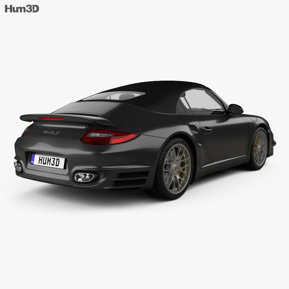 Porsche 911 Turbo S Cabriolet 2011 3d model
