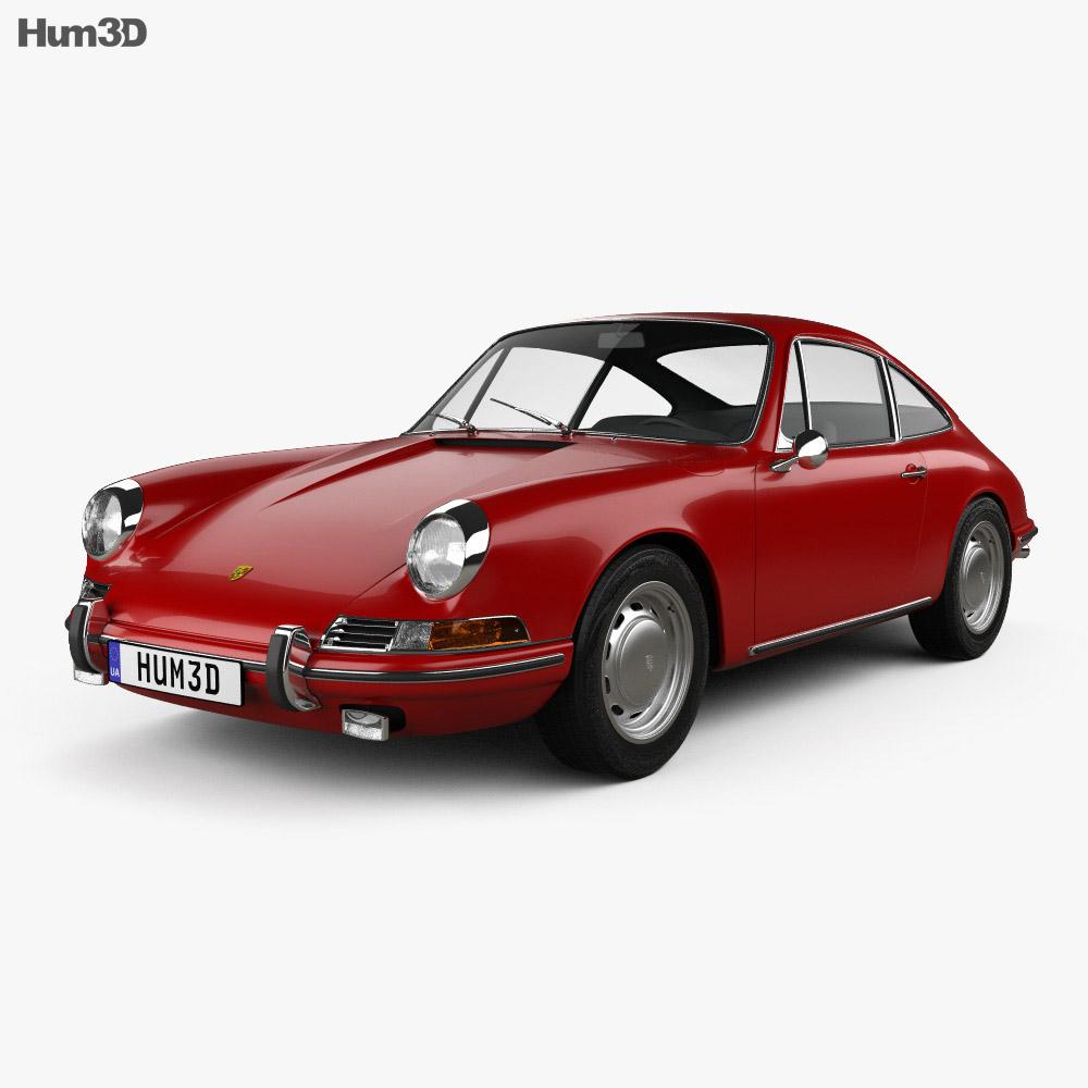 Porsche 912 coupe 1966 3d model