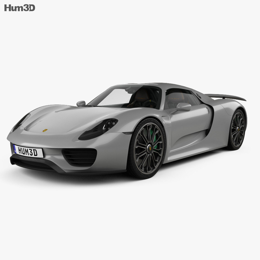 Porsche 918 spyder with HQ interior 2015 3d model