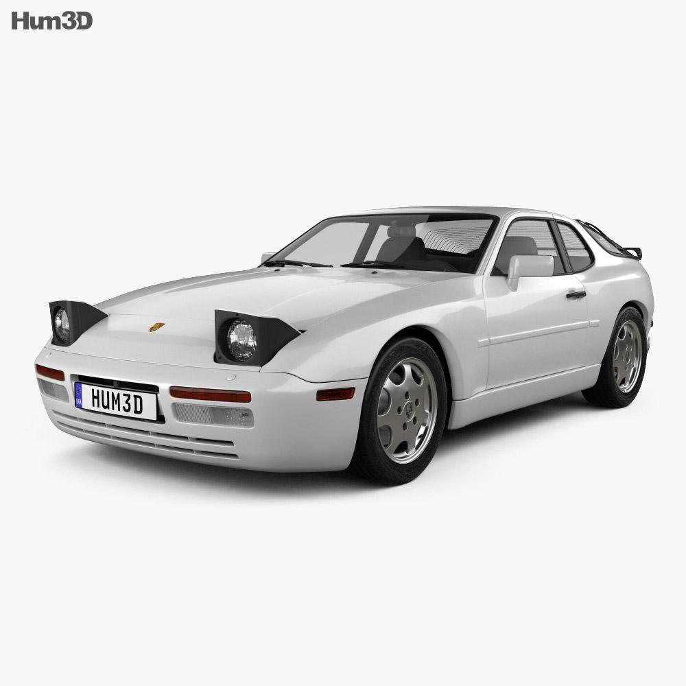 Porsche 944 coupe 1991 3d model