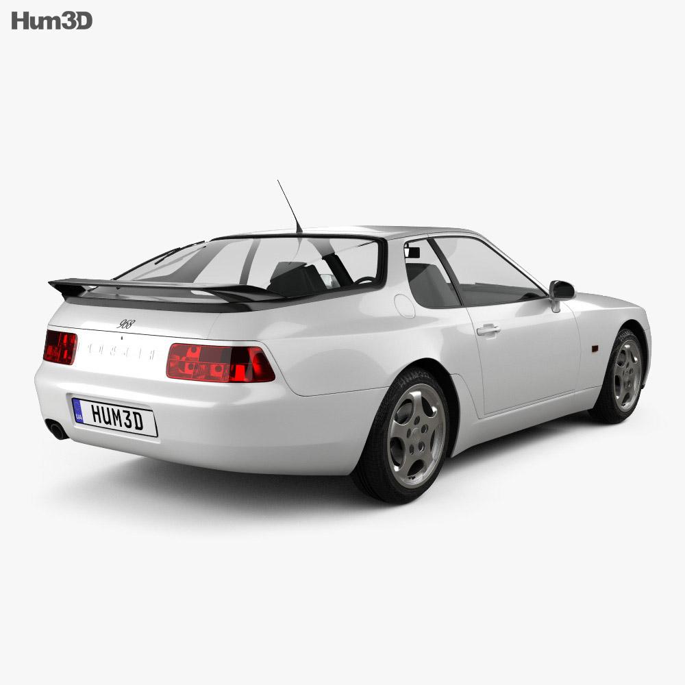 Porsche 968 1991 3d model