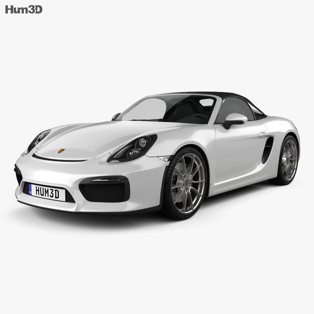 Porsche Boxster 981 Spyder 2016 3d model