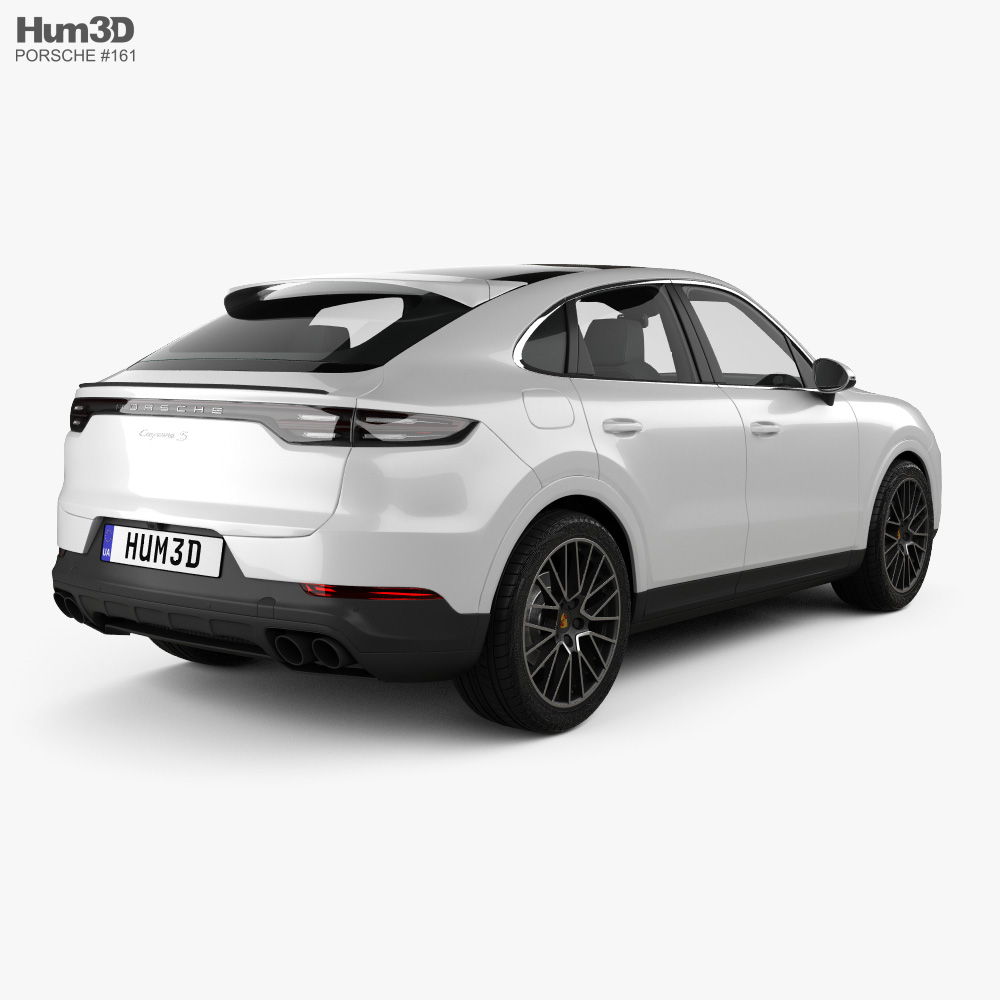 porsche cayenne s coupe 2019 3d model  vehicles on hum3d