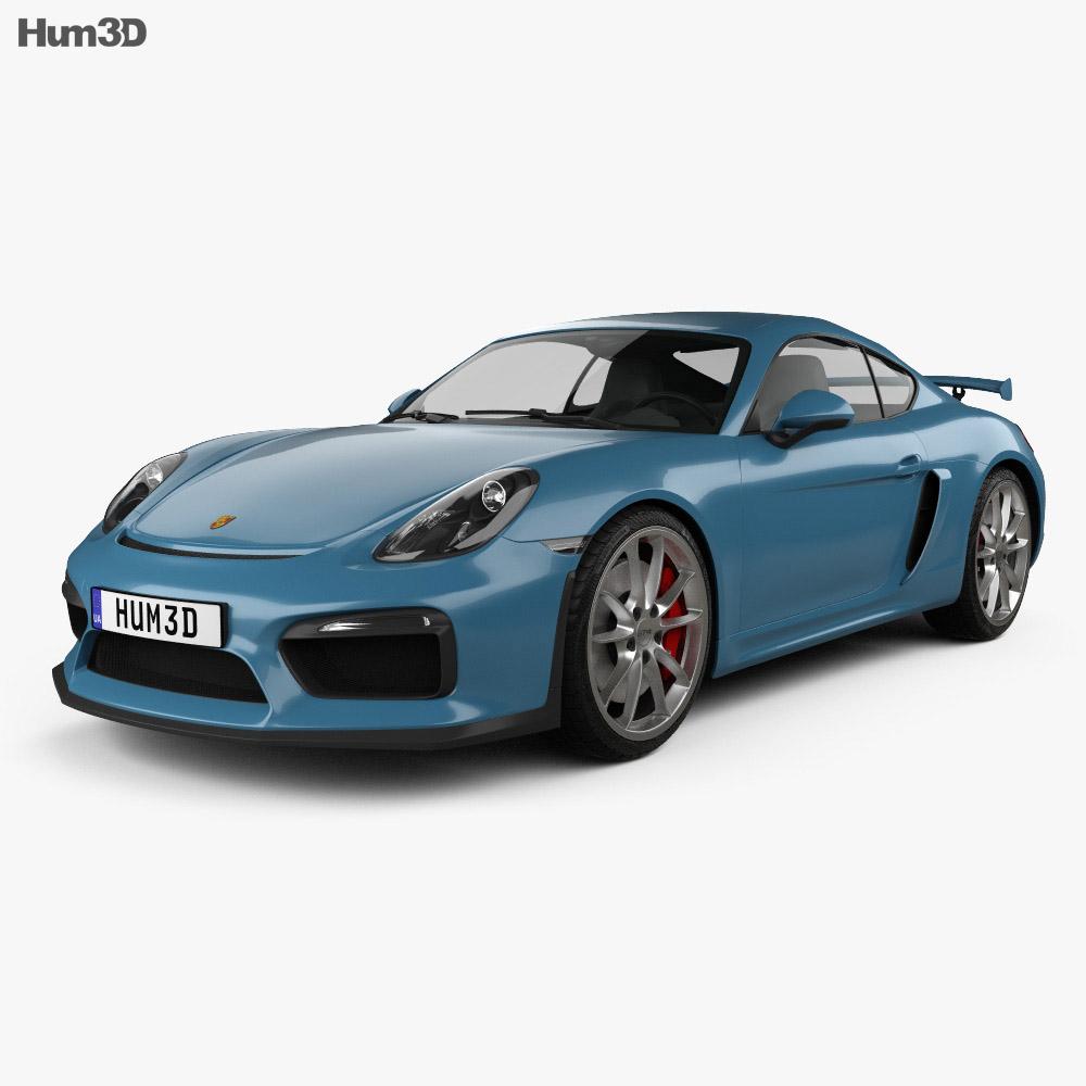 Porsche Cayman GT4 2014 3d model