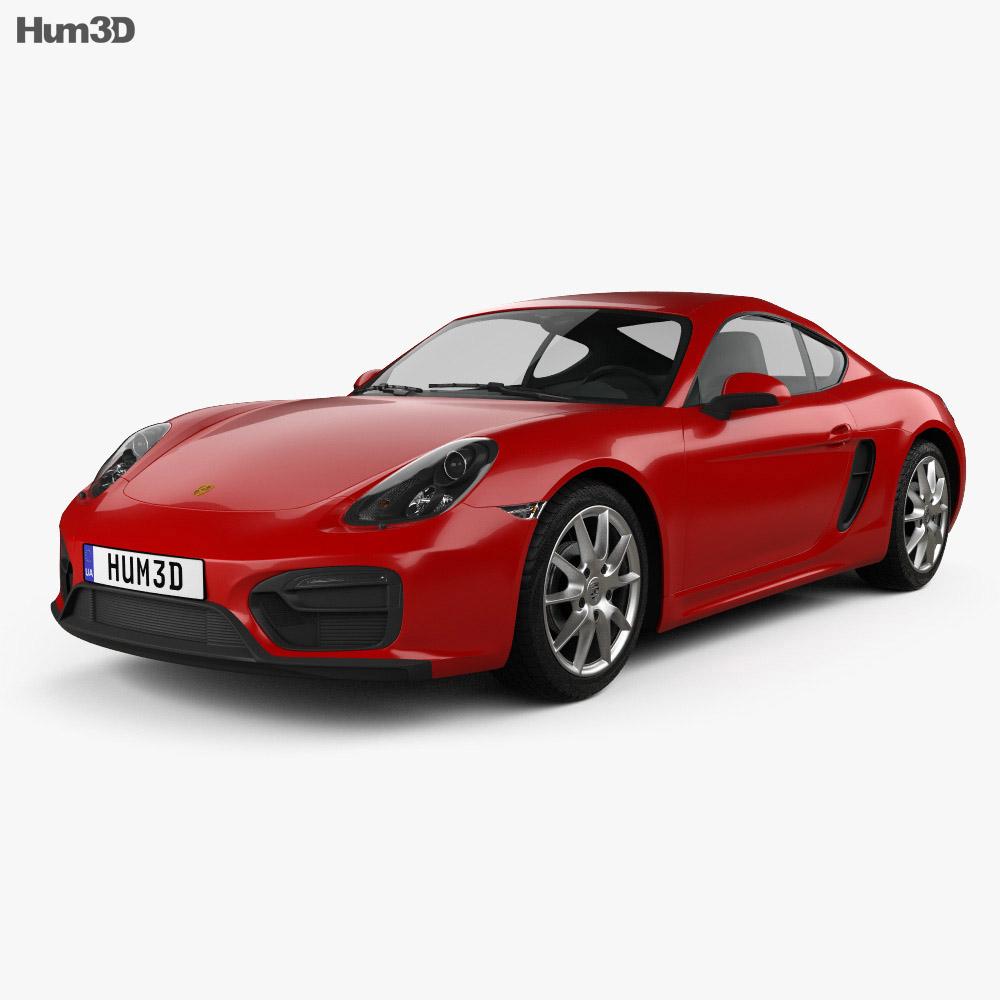 Porsche Cayman GTS 2014 3d model