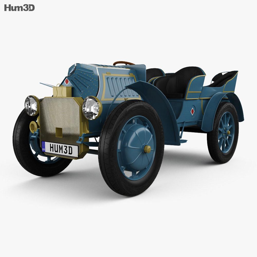 Porsche-Lohner Mixte Hybrid 1900 3d model
