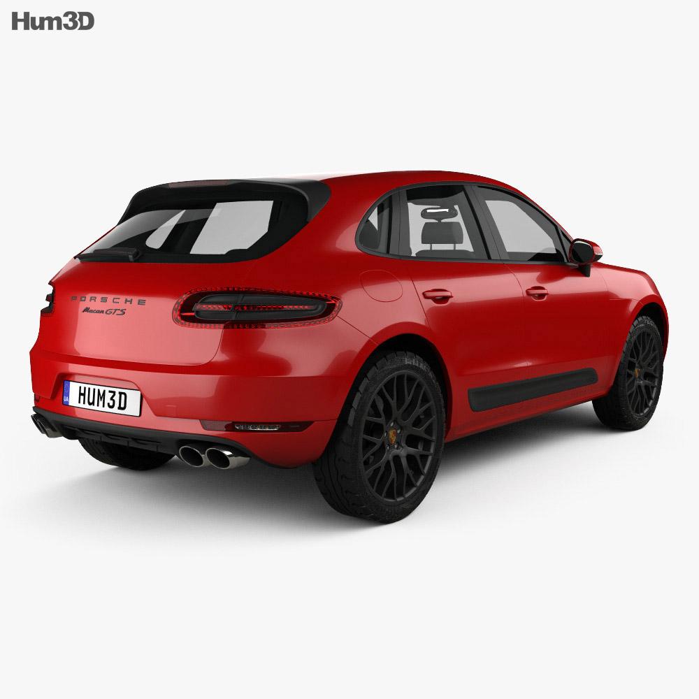 Porsche Macan GTS 2017 3d model