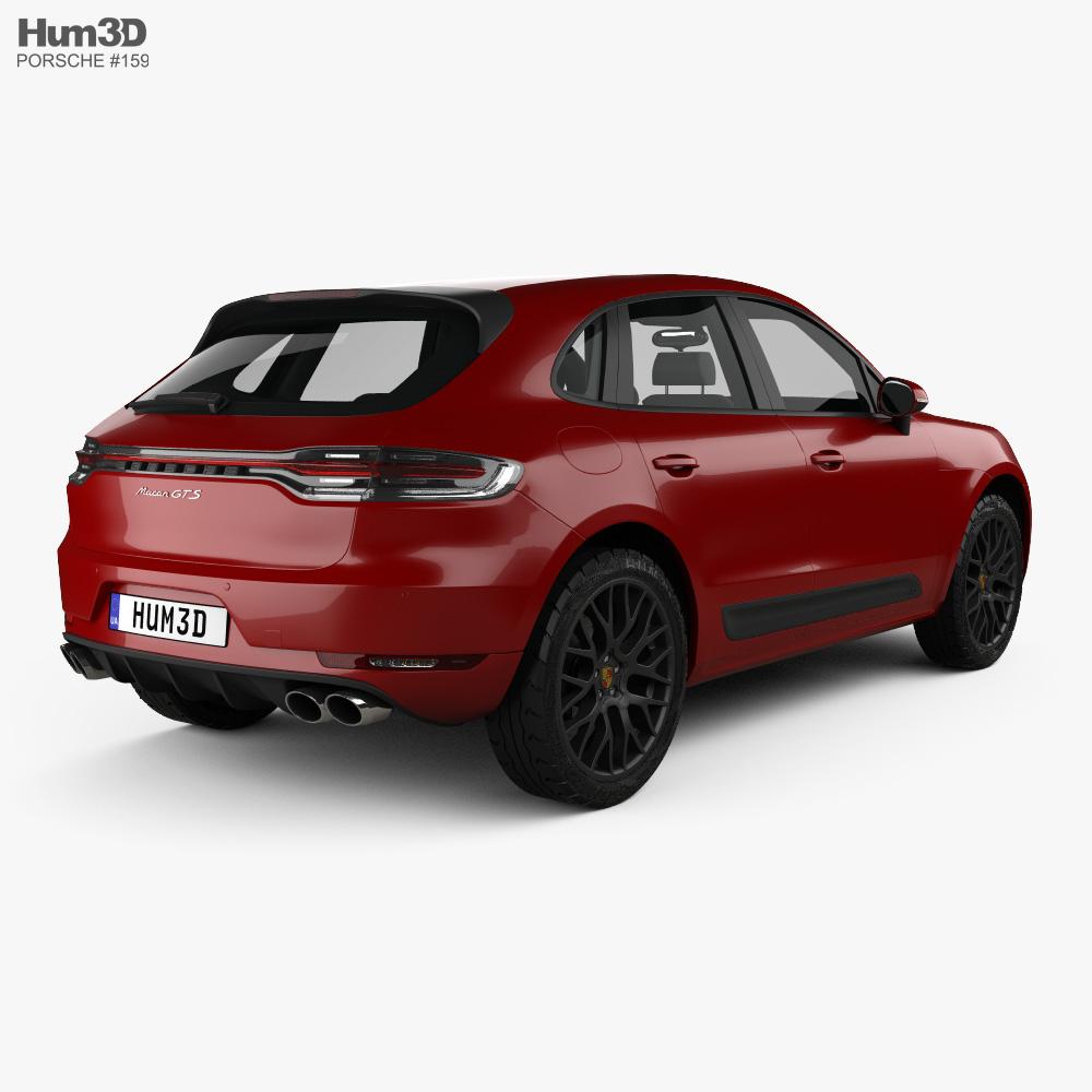 Porsche Macan GTS 2018 3d model