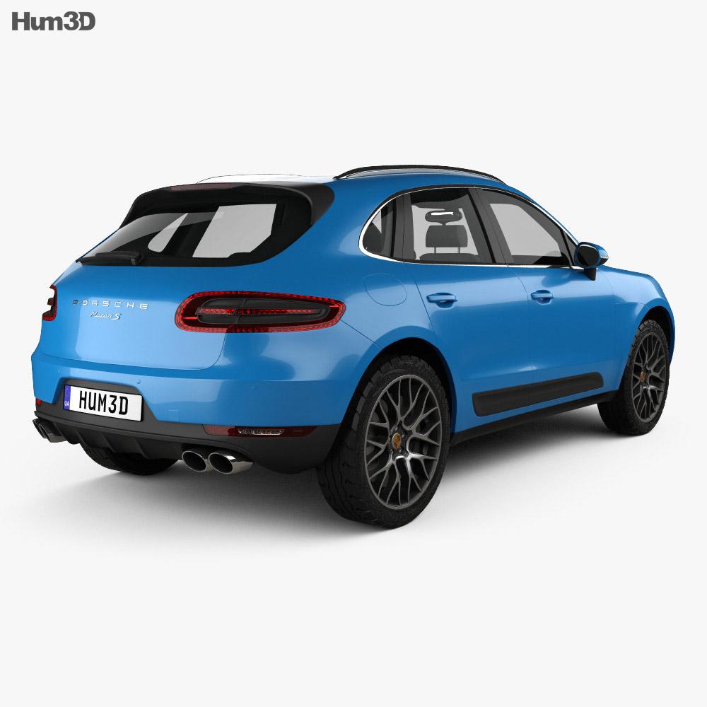 Porsche Macan S 2014 3d model
