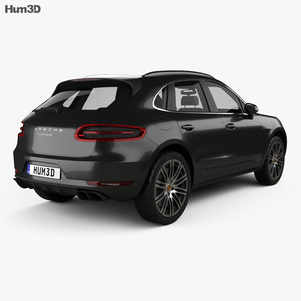 Porsche Macan Turbo 2014 3d model
