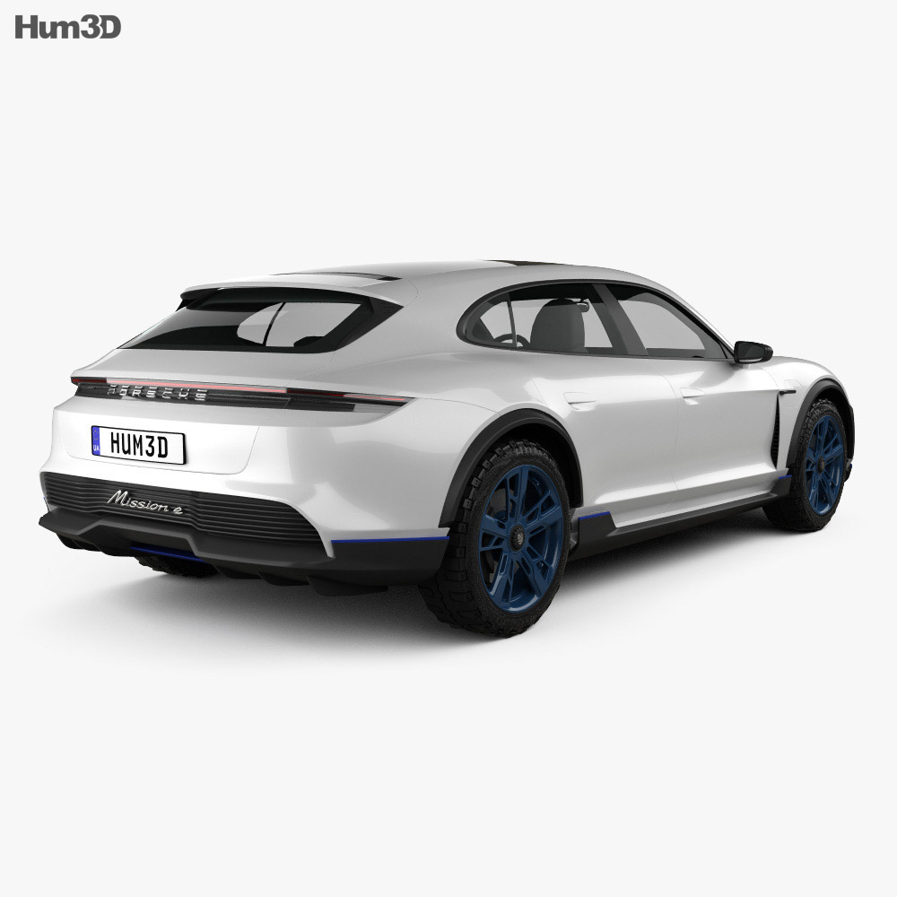 Porsche Mission E Cross Turismo 2018 3d model