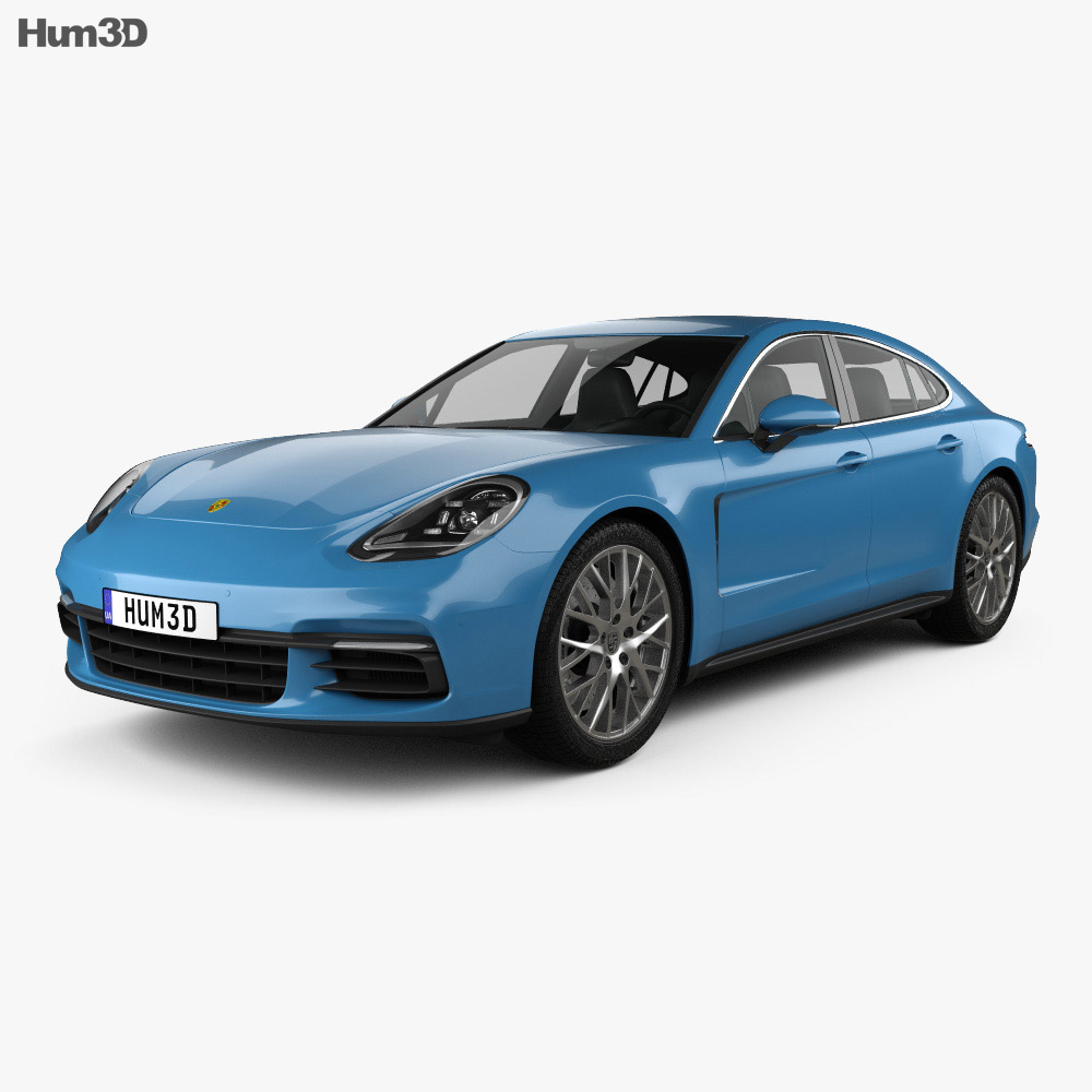 porsche panamera 4s 2016 3d model hum3d. Black Bedroom Furniture Sets. Home Design Ideas