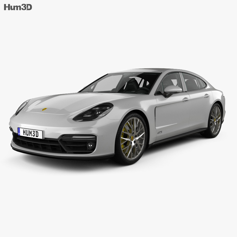 Porsche Panamera GTS with HQ interior 2019 3d model