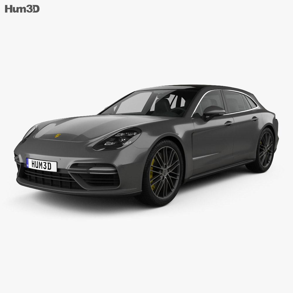Porsche Panamera Sport Turismo Turbo 2017 3d model