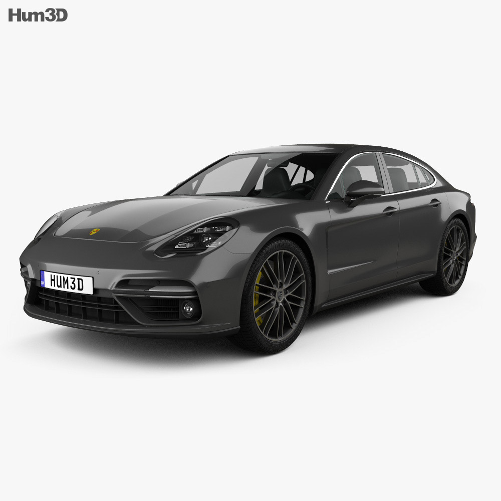porsche panamera turbo 2017 3d model hum3d. Black Bedroom Furniture Sets. Home Design Ideas