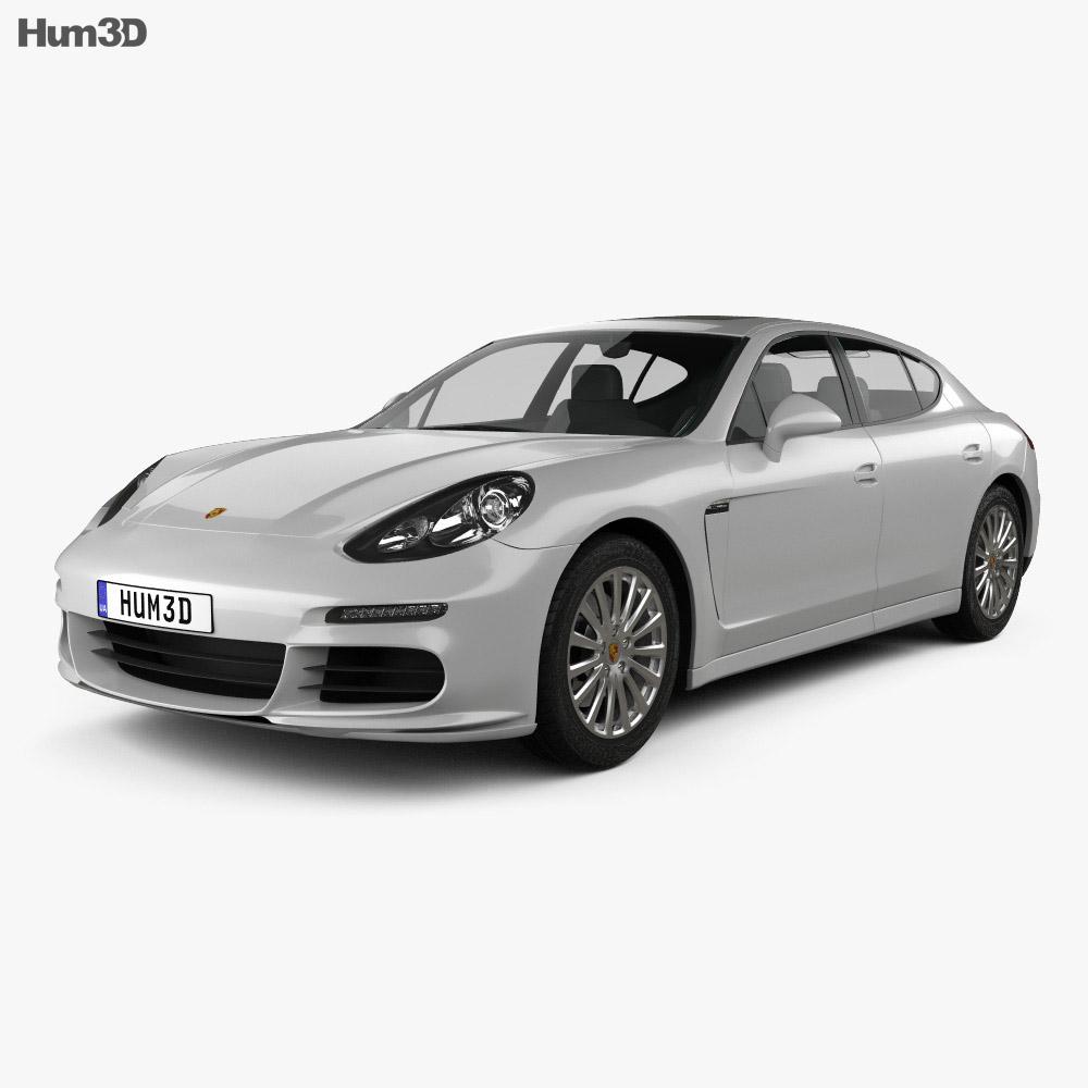Porsche Panamera S 2014 3d model