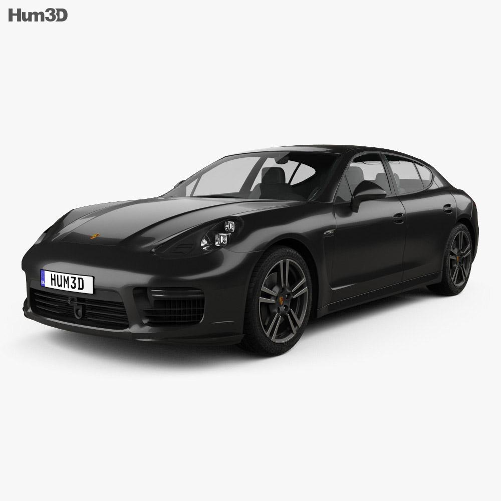Porsche Panamera Turbo 2014 3d model