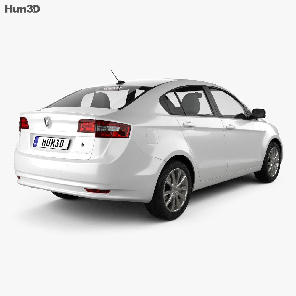 Proton Preve 2012 3d model back view