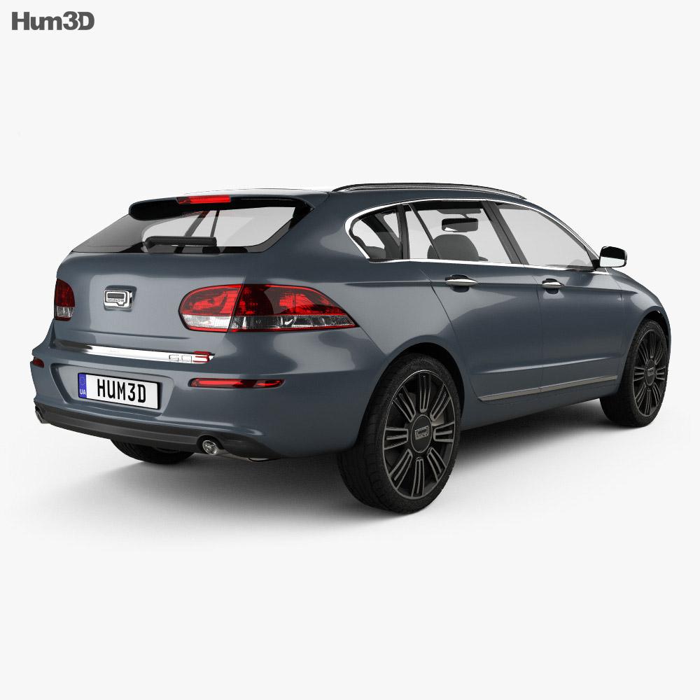 Qoros 3 estate 2014 3d model