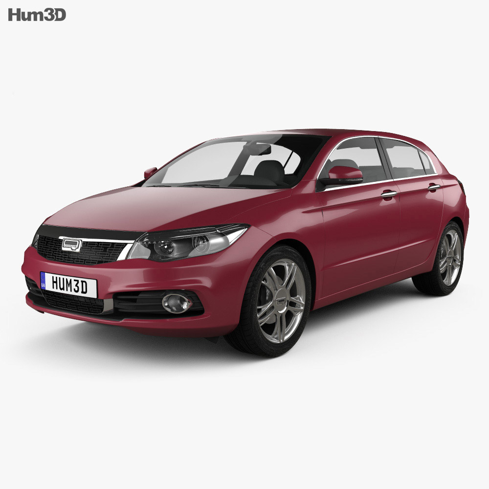 Qoros 3 hatchback 2014 3d model