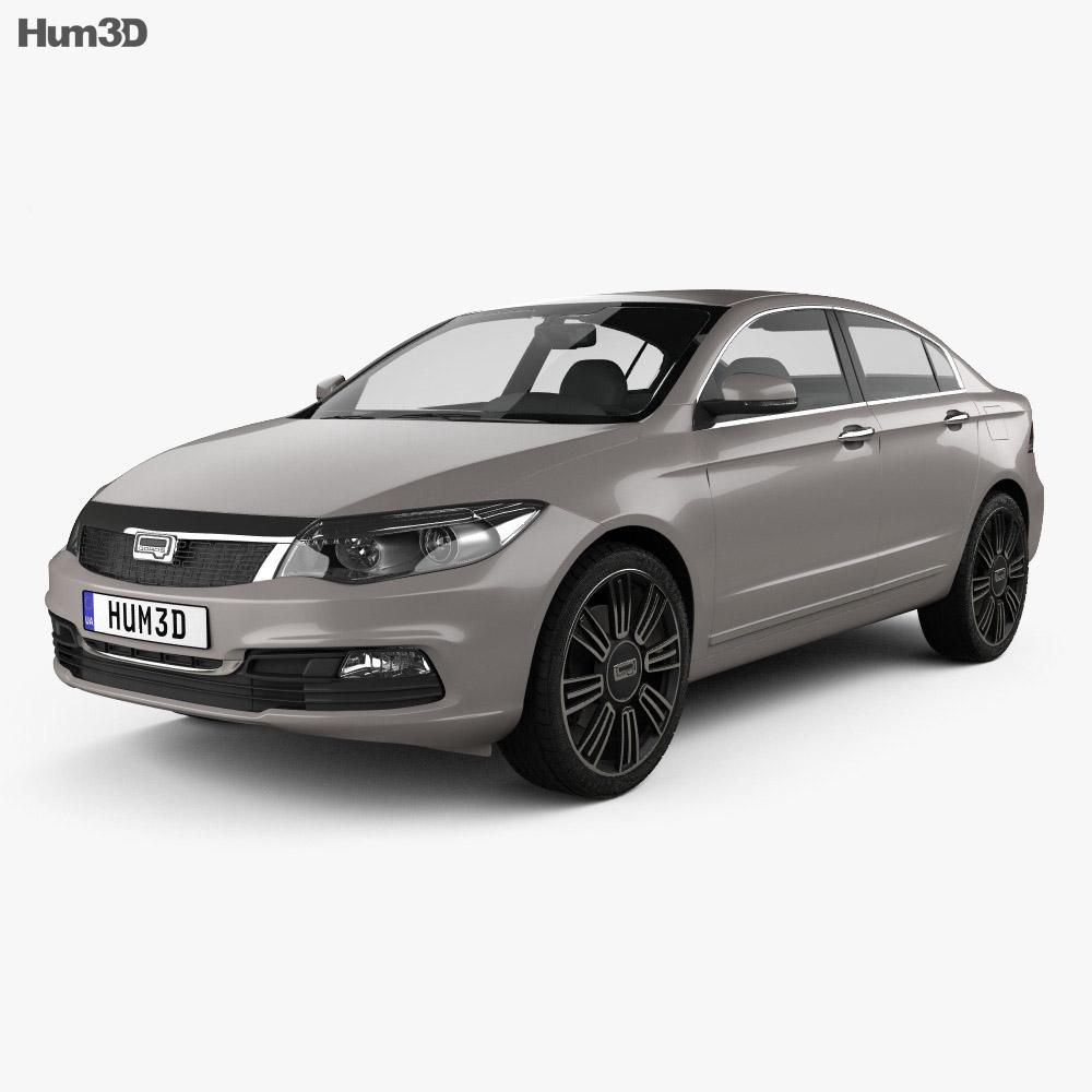 Qoros 3 sedan 2014 3d model
