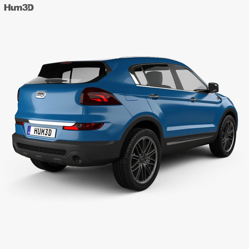 Qoros 5 SUV 2016 3d model