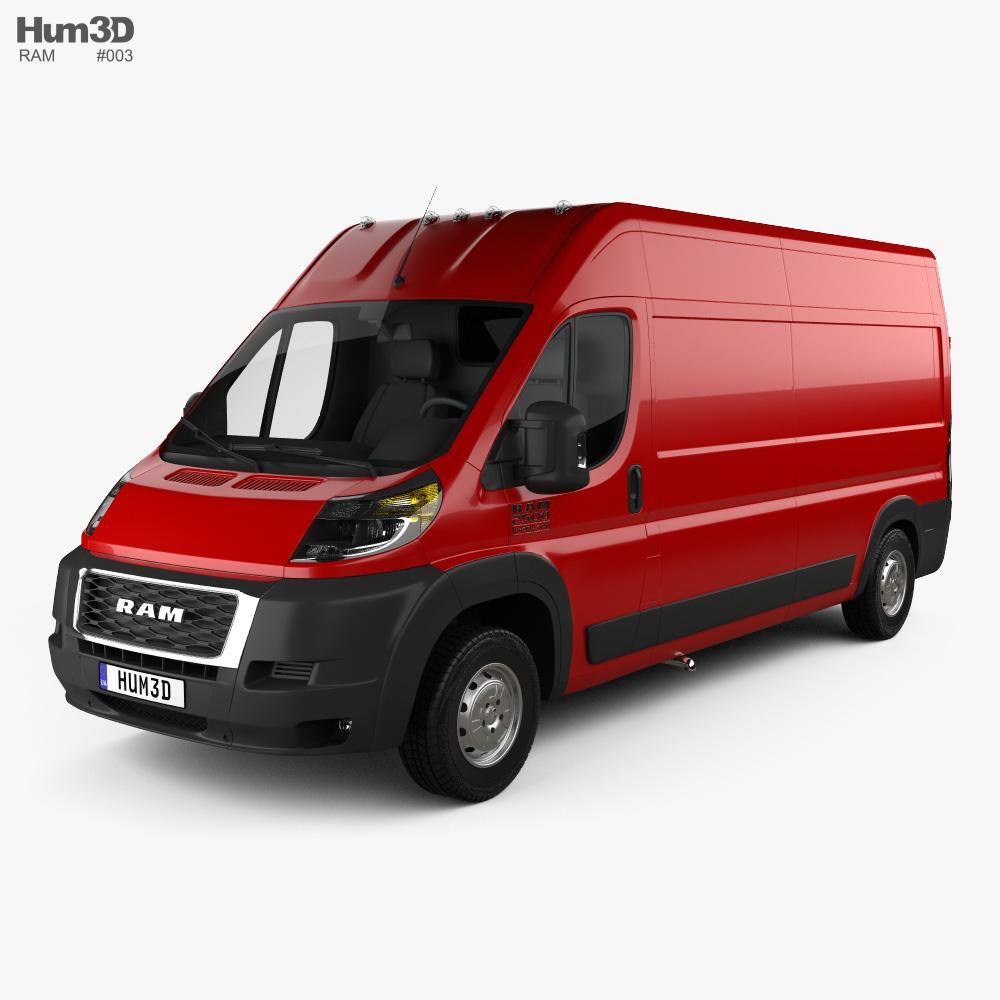 Ram ProMaster Cargo Van L3H2 2019 3d model