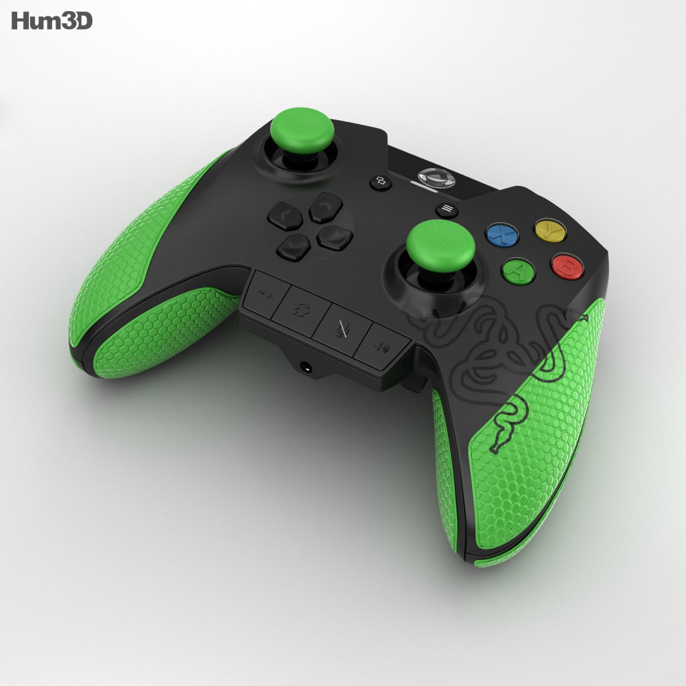 Razer Wildcat Gaming Controller for Xbox One 3d model